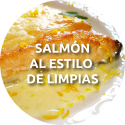 salmón al estilo de Limpias