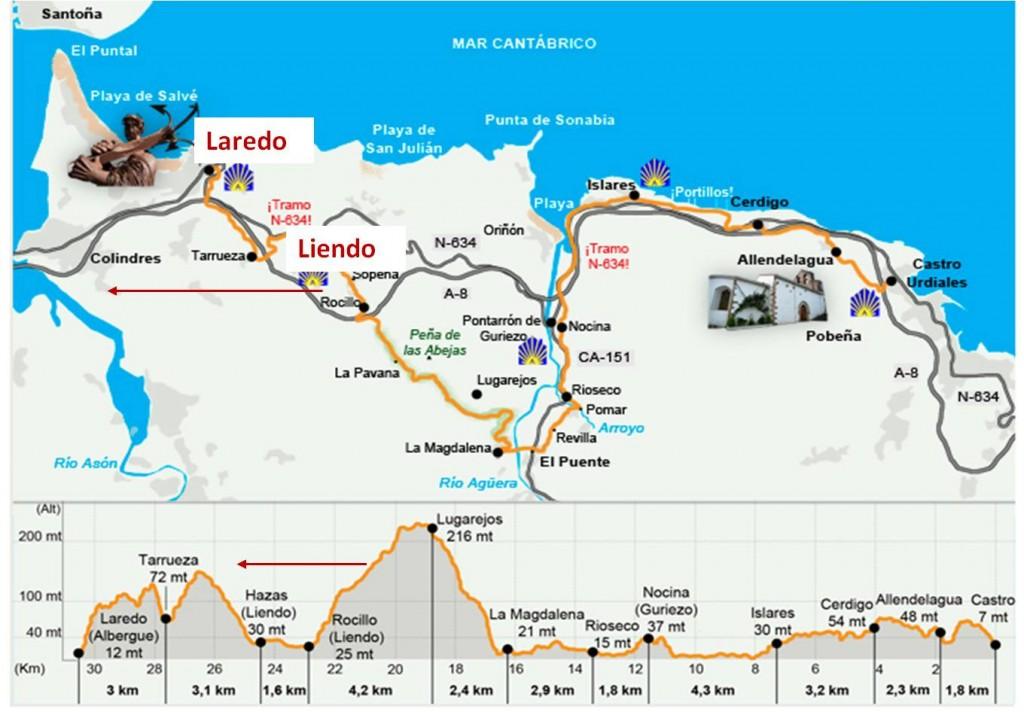 mapa Liendo-Laredo